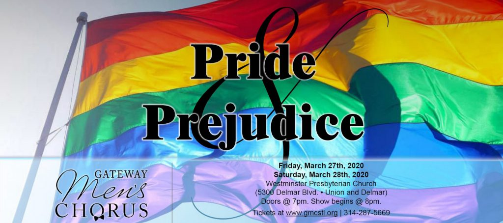 (POSTPONED) Concert: Gateway Men's Chorus - Pride & Prejudice (Show #1) @ Westminster Presbyterian Church